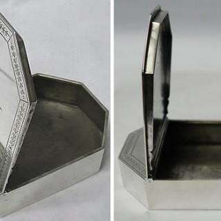 George V Silver Table Snuff Box