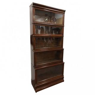 Unusually Large Oak Sectional Bookcase
