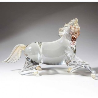 LATE 20TH CENTURY MURANO GLASS HORSE