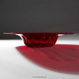 RED CARDINAL HAT : RED MURANO GLASS BOWL BY PAULY & C.