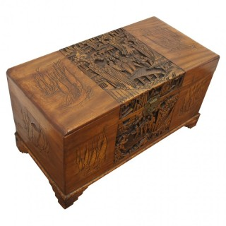 Carved Chinese Camphorwood Trunk