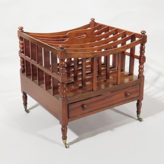 An Early 19th Century 6 Part Mahogany Canterbury