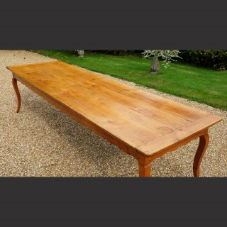 An Early 19th Century French Cherry Farmhouse Table