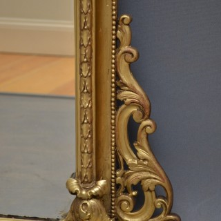 Victorian Gilt Overmatel Mirror