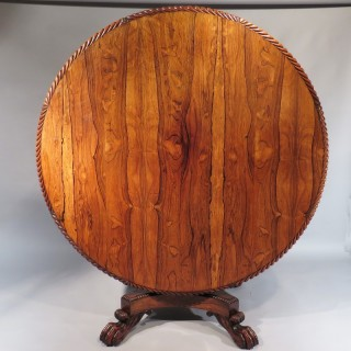A George IV Period Rosewood Centre Table