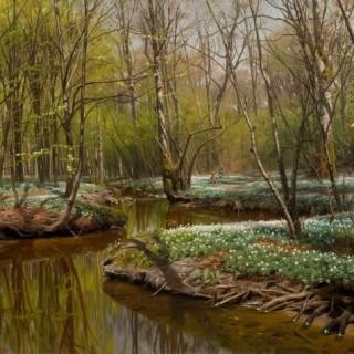 Peder Mørk Mønsted - Picking Flowers by the Stream