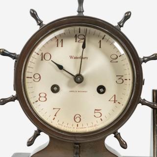 Novelty nautical clock and barometer set by Westbury Clock Co USA