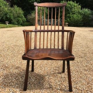 A George III Period Ash Windsor Comb Back Chair