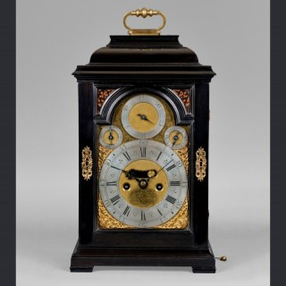 An exemplary Queen Anne, quarter repeating spring table clock  by  DANIEL QUARE & STEPHEN HORSEMAN, London c1720