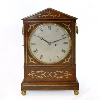 Regency period Rosewood Bracket Clock