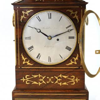 Regency period Rosewood Bracket Clock