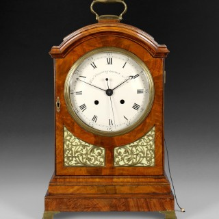 "Rare George III Period Mahogany Cased Bracket Clock signed on the enamelled dial ""Alex.r Cumming London No. 411"""