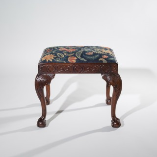 Fine George II Walnut Needlework Stool