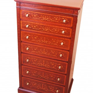 Antique Mahogany Wellington Chest Of Drawers