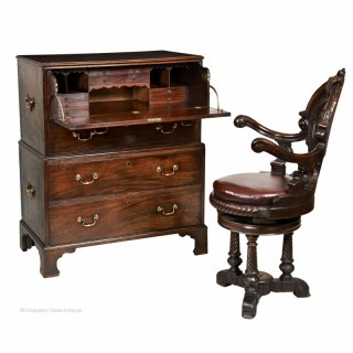 Georgian Secretaire Campaign Chest