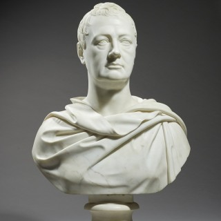 Marble Bust of an English Nobleman
