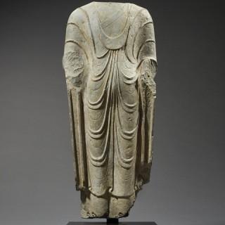 Ancient Torso of a Standing Buddha, China, c.550-577 A.D.