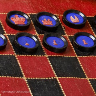 Jaques Backgammon, Chess & Draughts Roll Up Set