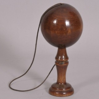 Antique Treen 20th Century Birch Bilboquet