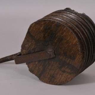 Antique Treen 18th Century Four Wheel Jack Pulley