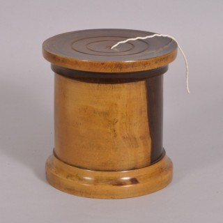 Antique Treen 19th Century Lignum Vitae String Barrel