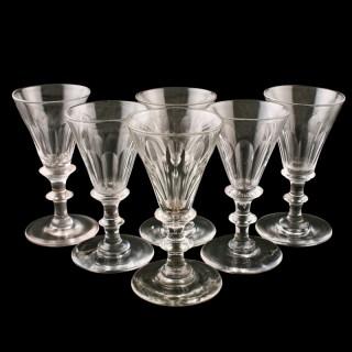 Six Georgian Sherry Glasses