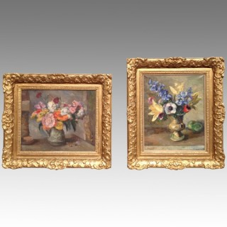 Pair of Still Life paintings by Allan Walton.
