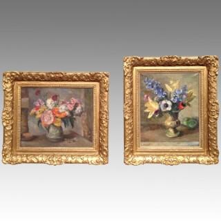 Pair of Still Life paintings by Allan Walton.
