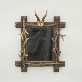 Taxidermy Antler Mirror