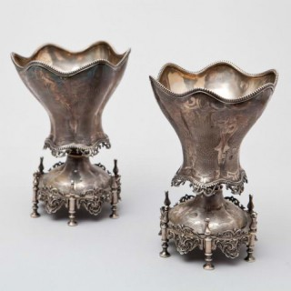 A PAIR OF OTTOMAN SILVER SPOON WARMERS