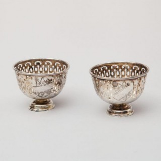 A PAIR OF OTTOMAN SILVER ZORFS