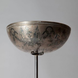 A RUSSIAN SILVER VODKA BOWL