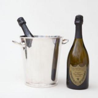 ASPREY SILVER PLATED WINE / CHAMPAGNE BOTTLE COOLER