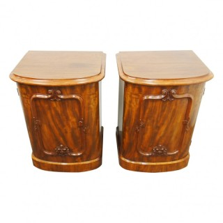 Pair of Victorian Bow Fronted Pedestals