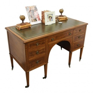 Sheraton Style Inlaid Writing Desk by Edward and Roberts