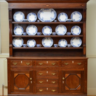 Georgian Oak and Mahogany Welsh Dresser