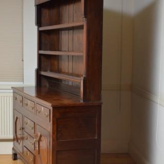Georgian Oak and Mahogany Welsh Dresser