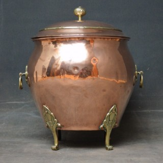 A stylish Art Nouveau Coal Bin
