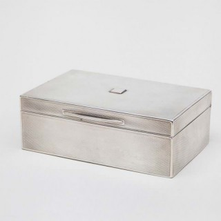 EARLY 20TH CENTURY SILVER BOX BY ASPREY