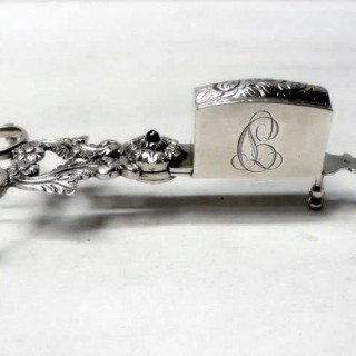 Antique Portuguese Silver Candle Snuffers