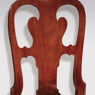 Pair of George II period red walnut Side Chairs