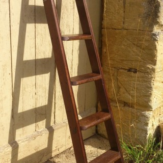 Early 20th Century Antique Library Ladder