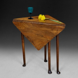 George II solid Walnut Corner Table