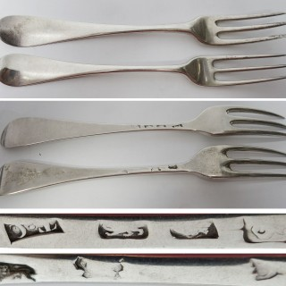 Antique George II Silver Forks