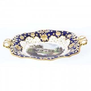 Antique English 20 Piece Porcelain Dessert Service 19th C