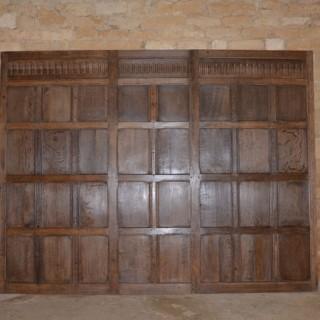 A single 18th century oak panel