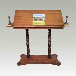 Georgian mahogany travelling  reading stand.