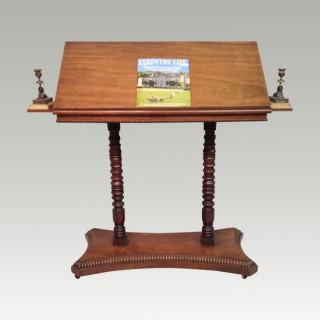 Georgian mahogany travelling  reading stand.