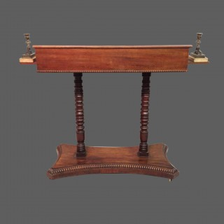 Georgian mahogany travelling  library stand.