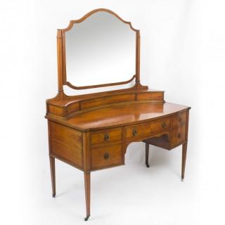 Antique Satinwood Inlaid Dressing Table 19th C